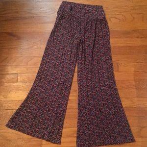 Lucky Brand Floral Cotton Wide Leg Pants (S)